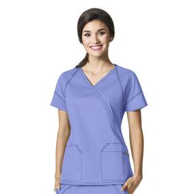 Uniforme Clinico Mujer Tens Y Paramedico Celeste Sevenflex