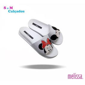 Chinelos Melissa Slide Beach Mickey Ela Minnie Foto Original