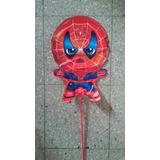 Globos Metalizados Spider-man Varilla Centro Mesa 38 Cm