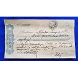 Antiguo Recibo Banco Credito Hipotecario Buenos Aires 1930