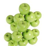 Fruta Artificial Maçã Verde 5 Unidades