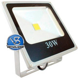 Refletor Led 30w Holofote Branco Frio Bivol Super Promoção