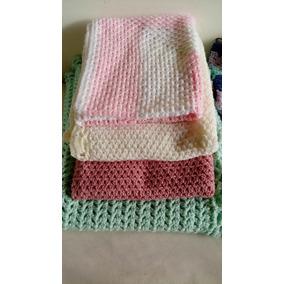 Mantas De Lana Tejidas A Mano Para Bebe En Crochet