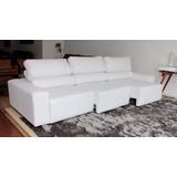 Sofa De Couro Retratil E Reclinavel 3 Modulos | Bali - 2,90m