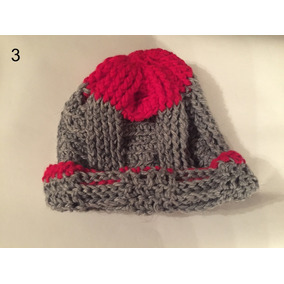 Gorro De Lana Con Visera Tejido Al Crochet - Ropa y Accesorios Gris ... ed6a833cf29