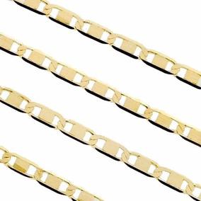 Cordão Corrente Piastrine 60cm Em Ouro Amarelo 18k-750