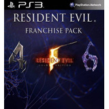 Resident Evil 4 5 Y 6 Franchise Combo Ps3 Dix Gamer
