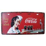 Placa Decorativa Metal Alto-relevo Coca-cola Vintage Retro