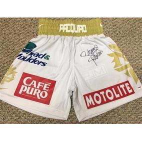 Short Autografiado Manny Pacman Pacquiao Box Boxeo Margarito