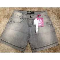 Short Feminino Jeans Lado Avesso 38 Fit