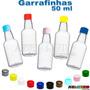 Kit Com 100 Mini Garrafinhas Pvc 50 Ml Com Tampa Plastica