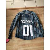 Camisa Zumba Flannel Nueva Original Talle M