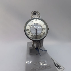 Reloj Dama Montreal Malla Pulcera Metalisada
