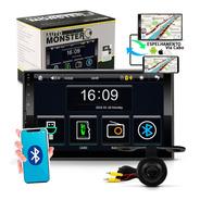 Mp5 Player 2 Din Touch Screen Bluetooth 200w + Camera De Ré