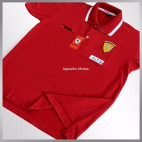 Camisa Camiseta Gola Polo Ferrari - Atacado