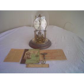 Antigo E Belo Relógio Alemão Schatz 400 Dias-bronze + Cúpula