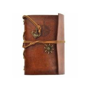 Caderno Diário Sketch Book Envelhecido Retrô Vintage Folha M