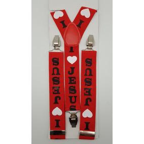Tirantes Suspenders Unisex I Love Jesus