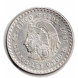 Moneda Mexicana Antigua Plata Cuauhmtemoc 1947 P10a