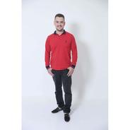 Camisa Polo Vermelho Manga Longa