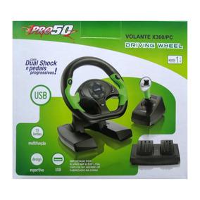 Volante P/x360/ Pc Dual Shock/pedais Progressivos Novo Pro50