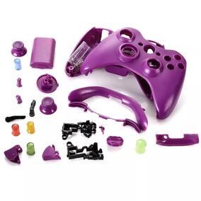 Carcaça Completa Controle Xbox 360 Roxo