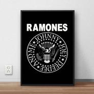 Quadro Decorativo Ramones Premium Com Moldura