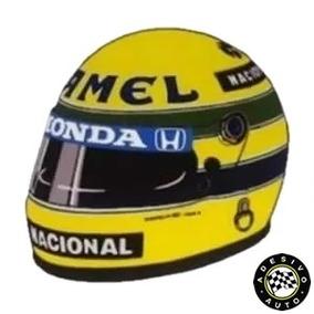 Adesivo Ayrton Senna Camel F1 Capacete 1987 Formula 1