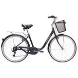 Bicicleta Oxford Cyclotour Aro 26 Mujer 6v Aluminio - Negro