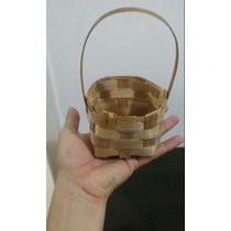 Kit 30 Cesta Palha 10cm Cestinha Palha Bambu Pequena