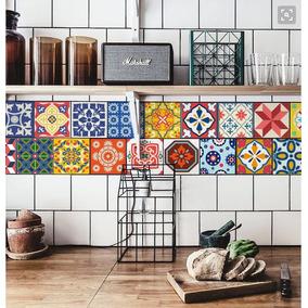 Vinilos azulejos estilo mexicano vinilos decorativos en for Azulejos decorativos cocina