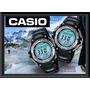 Reloj Casio® Original Twin Sensor Brújula Termómetro 200 Mt