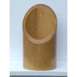 03 Vasos De Bambu Gigante Em Verniz. Artesanato, Decoração.