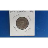 Moneda 20 Centavos 1966 Madero. Pico Cerrado.
