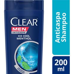 Shampoo Anticaspa Ice Cool Menthol Clear Men 200ml