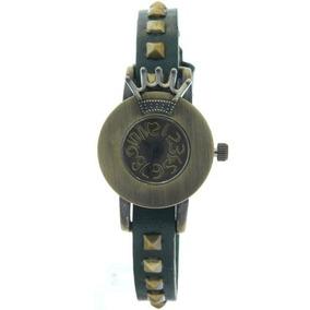 Copper Royal Crown Quartz Watch 2013 New Vintage Green Strap