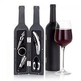 Set Kit 5 Accesorios Botella Vino Sacacorchos Decantador