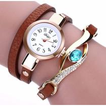 Reloj Mujer Damas Pulsera Cuerzo Cuarzo