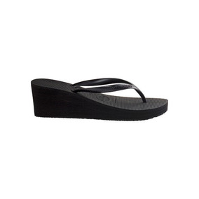 Havaianas Ojotas Mujer High Fashion Altas Negro Originales
