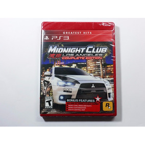 Midnight Club Los Angeles Complete Edition Mídia Física Ps3