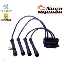 Bobina Ignição Renault Clio 1.0 16v Peugeot 206 1.0 16v Nova
