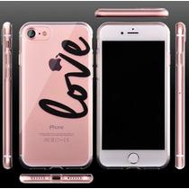 Funda Apple Iphone 7 Plus Transparente + Cristal Templado