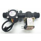 Sensor De Fluxo Vazão Água 1/2 Yf-s201 + Válvula Solenoide