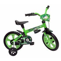 Bicicleta Infantil Aro 12 Verde Crianças De 2 A 4 Anos Show