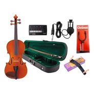 Combo Violin C/ Arco Estuche 3/4 4/4 + Afinador + Accesorios