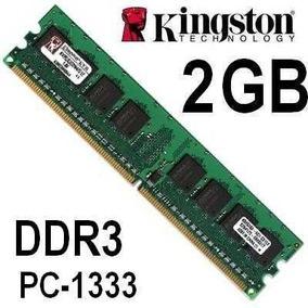 2 Memórias Ram Ddr3 2gb