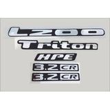 Emblema Adesivo Kit L200 Triton Alto Relevo 5 Peças