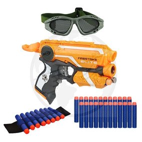 62bee3414e7de Arma Nerf + Pulseira + Óculos + 30 Dardos Bala De Brinquedo