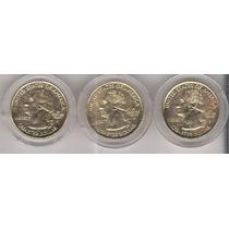 Monedas Usa Cuartos Dollar Estados Conmemorativas Chapa Oro