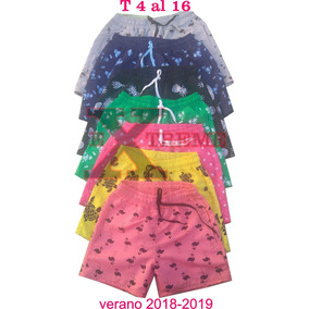 Short De Baño Para Niño Estampado Microfibra Talles 4 Al 16
